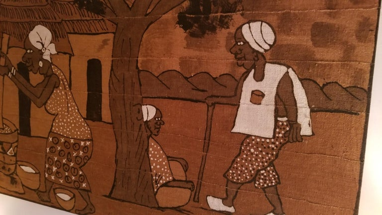 Tribal Mid century African Painting from Accademia di Belle Arti di Venezia For Sale