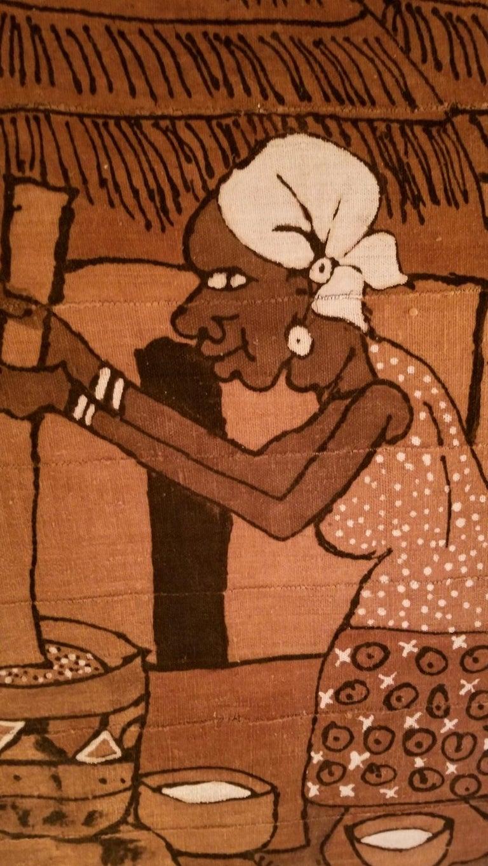 Italian Mid century African Painting from Accademia di Belle Arti di Venezia For Sale