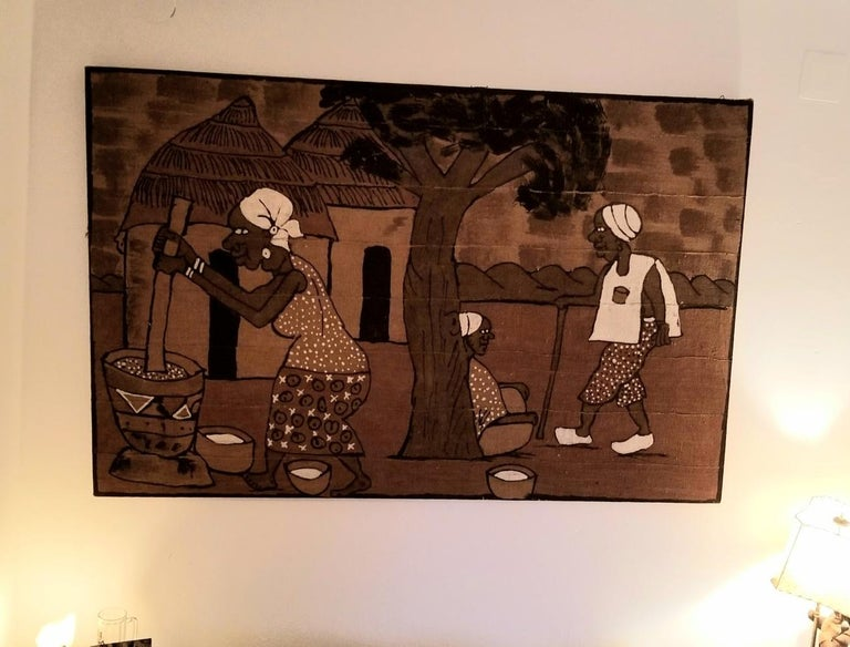 Mid century African Painting from Accademia di Belle Arti di Venezia For Sale