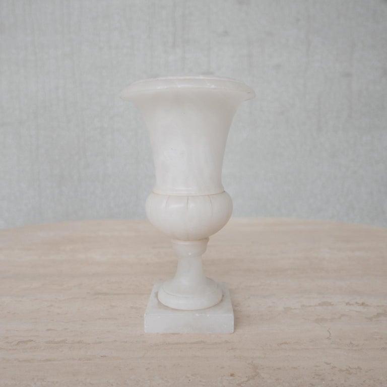 Stone Mid-Century Alabaster Vase For Sale