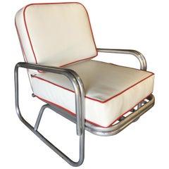 Midcentury Aluminum Patio/Outdoor Lounge Chair