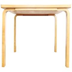 Midcentury Alvar Aalto for Artek Birchwood Square Table