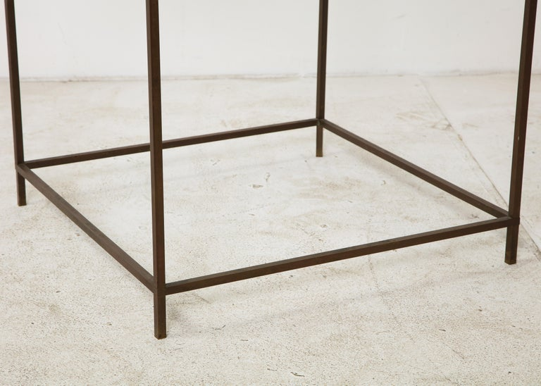 Midcentury American Bronze and Glass Side Table, circa 1950 For Sale 5