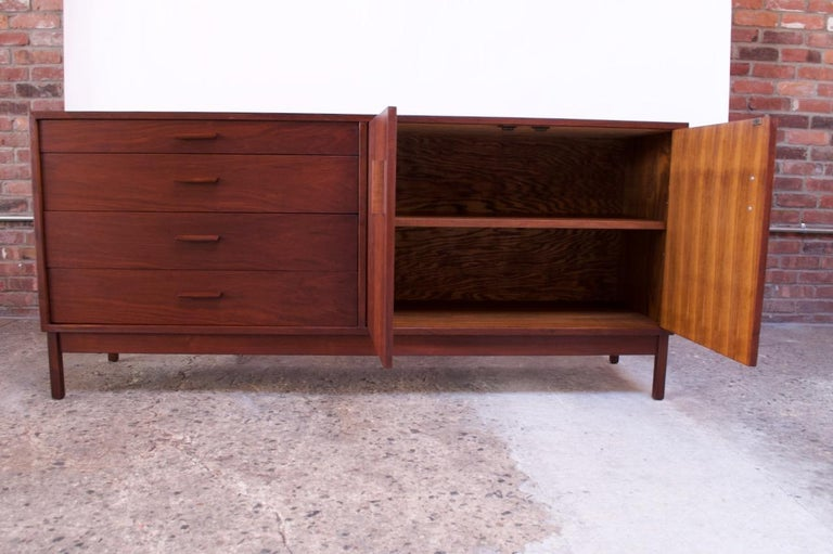 Mid-20th Century Midcentury American Modern Walnut Sideboard or Dresser by Richard Artschwager For Sale