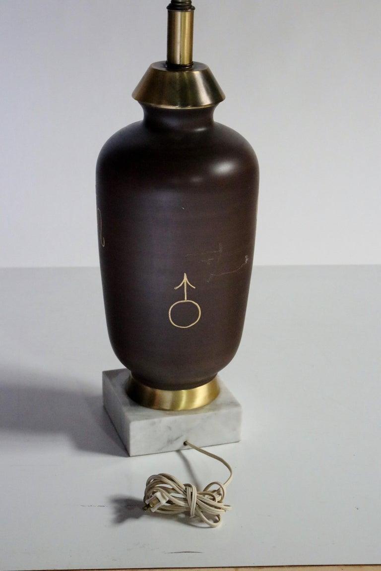 Mid-20th Century Mid-Century Ancient Roman Gladiator Motif Table Lamp For Sale