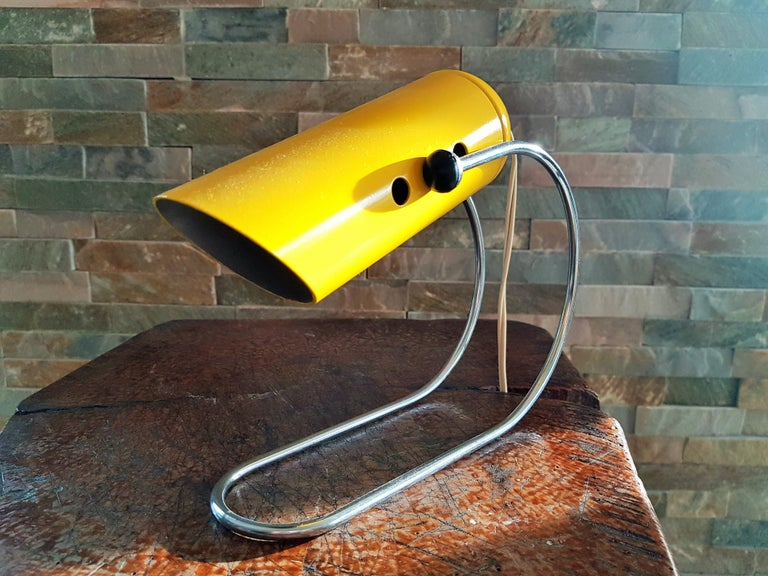 Midcentury Angelo Lelli Table Desk Lamp, Italiy 1950s For Sale 1