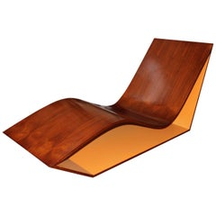Midcentury Angled Lounger-Chaise