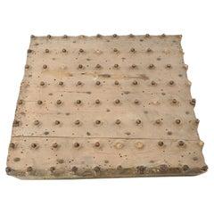 Mid-Century Antique Textile Block Print Stamp in Wood