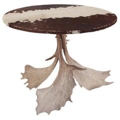 Midcentury Antler Table Wabi Sabi