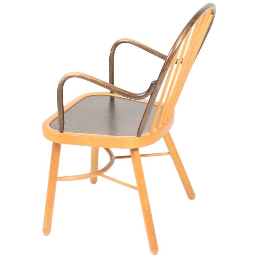 Midcentury Armchair in Elm by Eilersen, Danish Design, 1950s