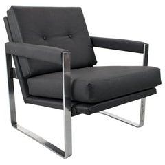 Mid Century Armchair by Hein Salomonson for Ap Polak in Black Faux Leather, 1968