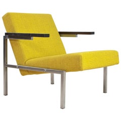 Midcentury Armchair by Martin Visser Chrome, Wenge and Yellow, 1960s