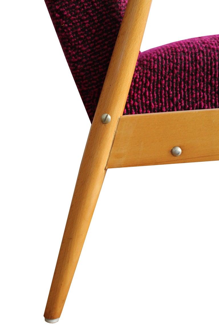 Czech Midcentury Armchair For Sale