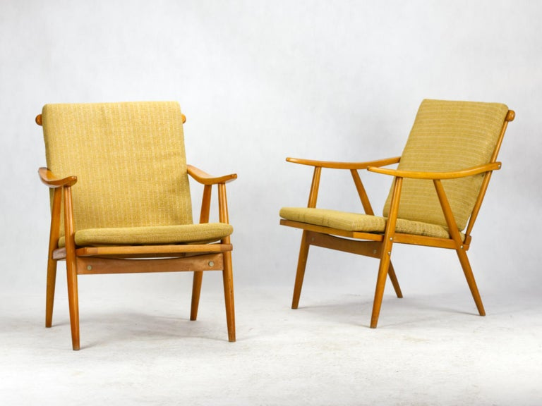 These chairs were produced by the renowned Czechoslovakian manufacturer TON in the 1960s.