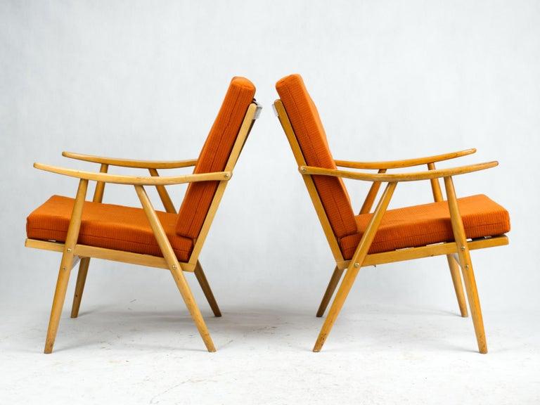 Mid-Century Modern Mid Century Armchairs by TON Czechoslovakia, 1960s