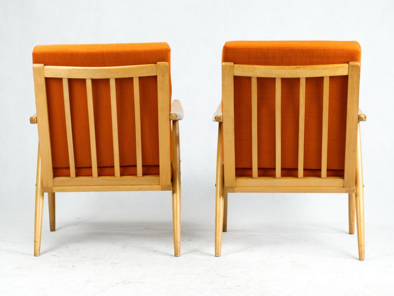 Mid Century Armchairs by TON Czechoslovakia, 1960s In Good Condition In Lucenec, SK