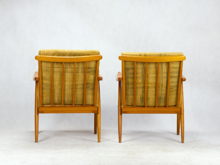 20th Century Mid Century Armchairs by TON Czechoslovakia, 1960s For Sale