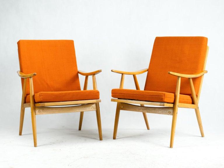 Mid Century Armchairs by TON Czechoslovakia, 1960s 1