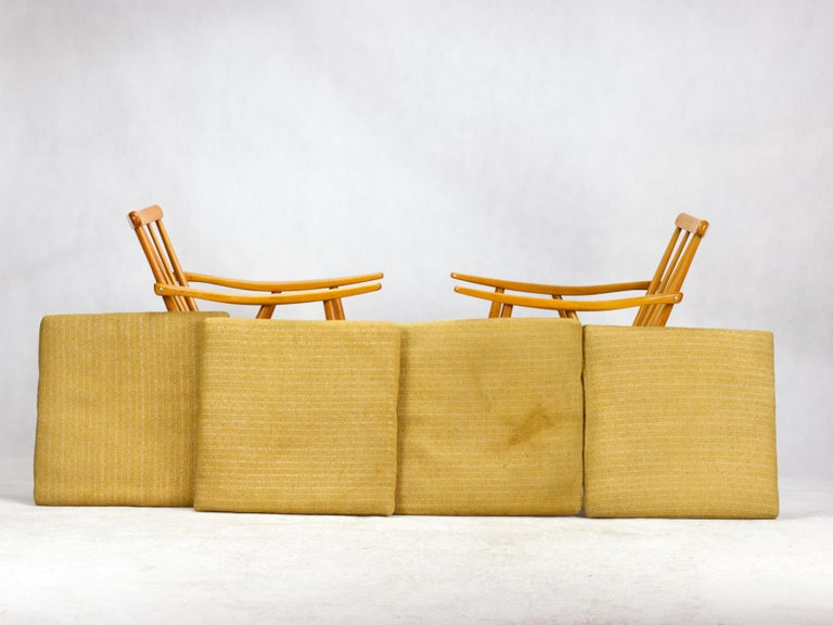 Mid Century Armchairs by TON Czechoslovakia, 1960s For Sale 1