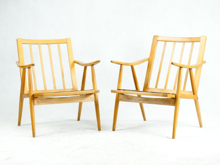 Mid Century Armchairs by TON Czechoslovakia, 1960s 2