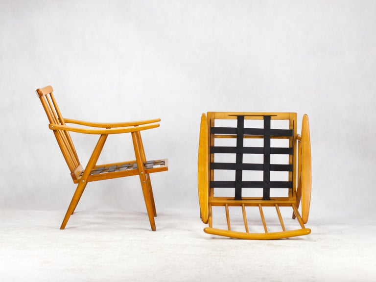 Mid Century Armchairs by TON Czechoslovakia, 1960s For Sale 2