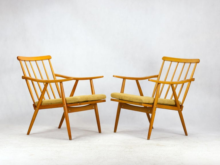 Mid Century Armchairs by TON Czechoslovakia, 1960s For Sale 3