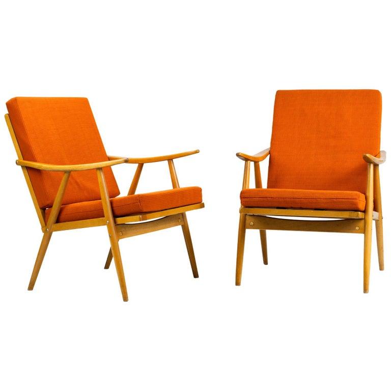 Mid Century Armchairs by TON Czechoslovakia, 1960s