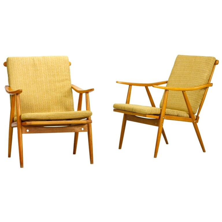 Mid Century Armchairs by TON Czechoslovakia, 1960s For Sale