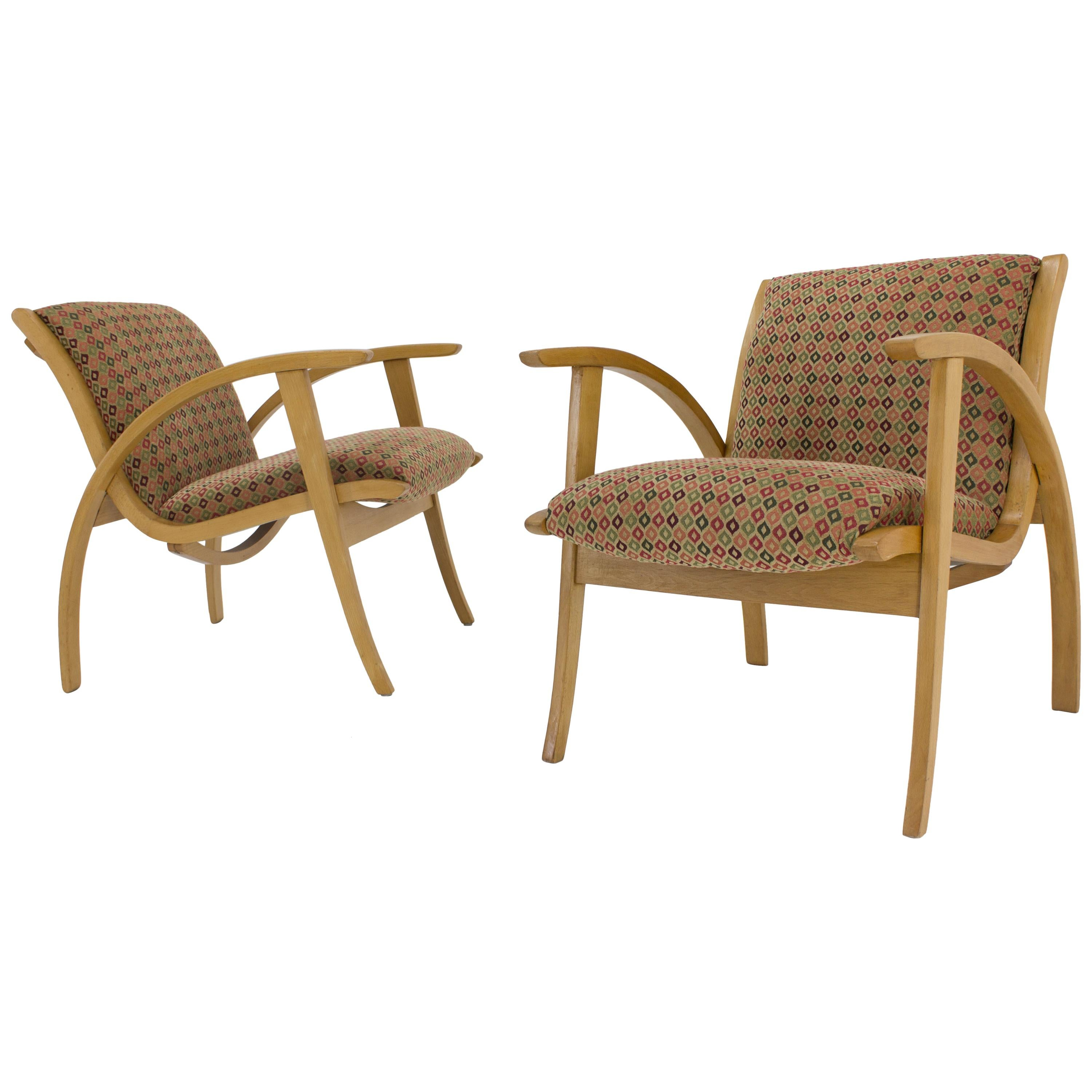 Midcentury Armchairs, Set of Two, 1960s
