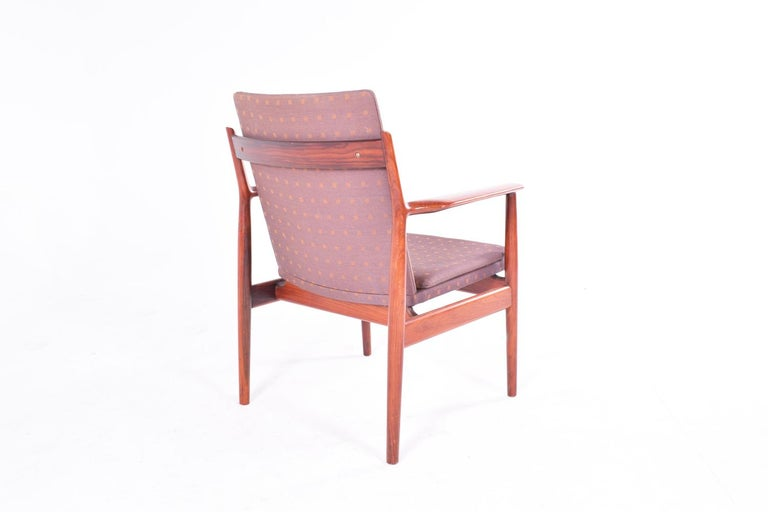 Mid-Century Modern Midcentury Arne Vodder Rosewood and Fabric Desk Chair for Sibast For Sale