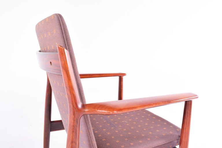 Mid-20th Century Midcentury Arne Vodder Rosewood and Fabric Desk Chair for Sibast For Sale