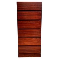 Mid Century Arne Wahl Iversen Danish Modern Tall Narrow Lingerie Chest Dresser