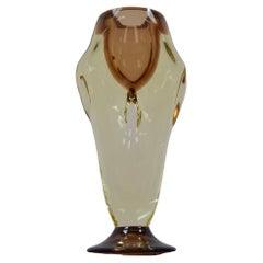Mid-Century Art Glass Vase, Chribska, 1960's