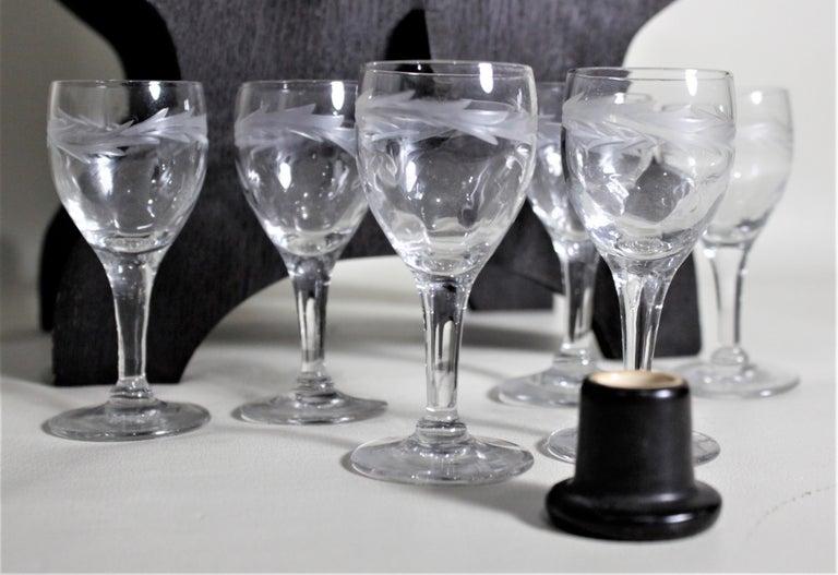 Mid-Century Art Pottery Gouda Styled Keg & Glasses Liquor Decanter Set For Sale 3