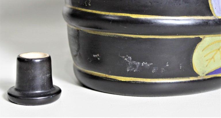 Mid-Century Art Pottery Gouda Styled Keg & Glasses Liquor Decanter Set For Sale 1