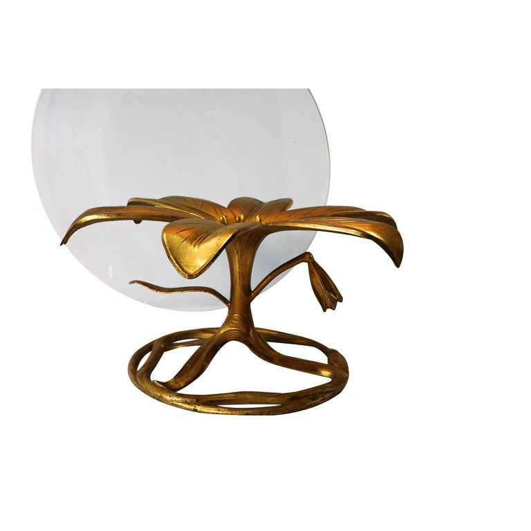 Mid-Century Modern Midcentury Arthur Court Gilded Lily Coffee Table For Sale