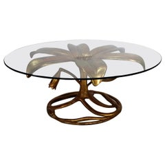 Midcentury Arthur Court Gilded Lily Coffee Table