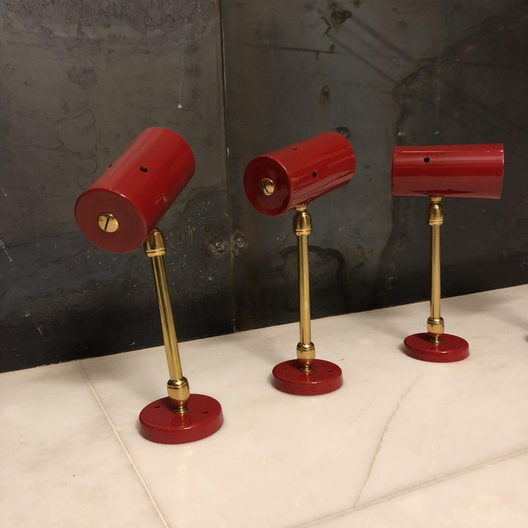 Mid-Century Modern Midcentury Articulated Wall Lamps from Stilnovo, 1950s, Set of 4 For Sale