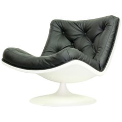 Midcentury Artifort Lounge Chair 'model f976' by G. Harcourt for Artifort