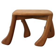 Midcentury Artisan Made Walking Stool