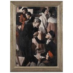 "Mid Century Artist, Andrew Loomis Painting, ""The Conversation"""