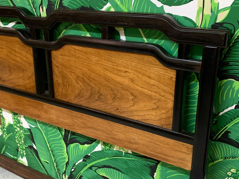 Late 20th Century Midcentury Asian Full/Queen Headboard by Thomasville For Sale