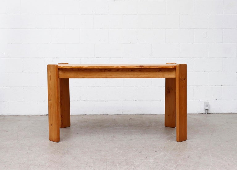 Dutch Midcentury Ate Van Apeldoorn Style Pine Dining Table For Sale