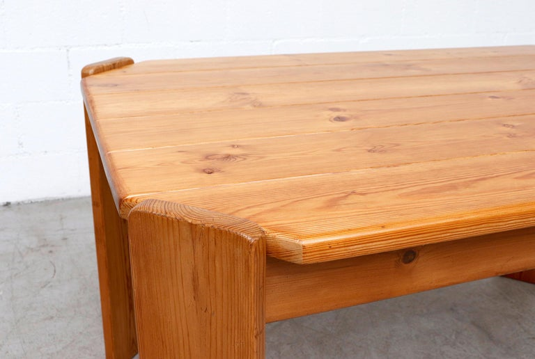 Midcentury Ate Van Apeldoorn Style Pine Dining Table For Sale 1