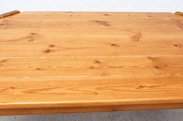 Midcentury Ate Van Apeldoorn Style Pine Dining Table For Sale 2