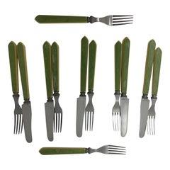 Midcentury Bakelite Cattalin Flatware Tableware Pieces