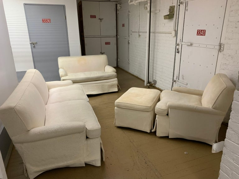 Mid-Century Baker Upholstered Two-Seat Sofa For Sale 2
