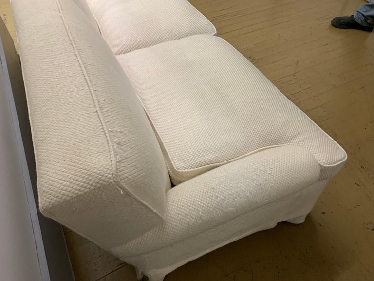 Mid-Century Baker Upholstered Two-Seat Sofa For Sale 1