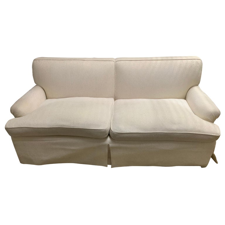 Mid-Century Baker Upholstered Two-Seat Sofa For Sale