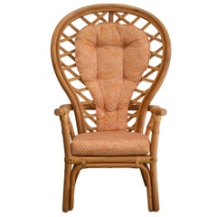 Midcentury Bamboo Armchair or Occasional Chair